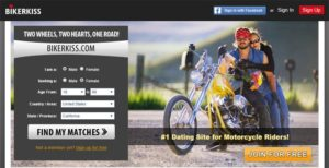 BikerKiss.com Screenshot