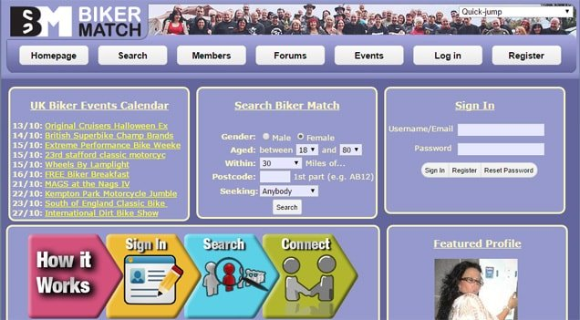 BikerMatch.co.uk Screenshot