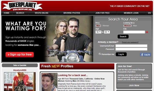 BikerPlanet.com Screenshot