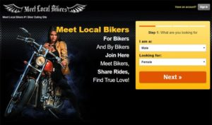 MeetLocalBikers.com Screenshot